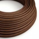 Elektrisches Kabel rund überzogen mit Seideneffekt Rost RM36