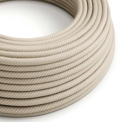 Câble Vertigo rond avec tissage en Paille de Coton et Lin ERD20