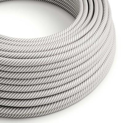 Cavo Elettrico rotondo Vertigo HD rivestito in tessuto Bianco e Alluminio ERM46