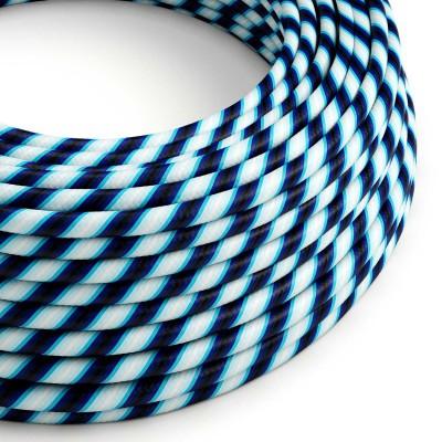 Rundes, Vertigo-Textilkabel mit HD Effekt in Mr Blue-Optik ERM60