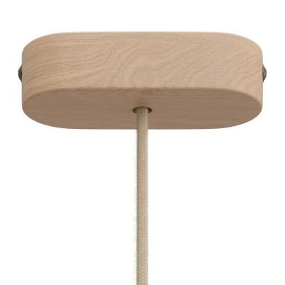Kit rosace en bois ovale