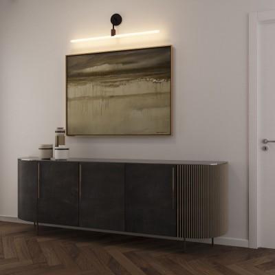 Lampada a muro minimal con portalampada Syntax S14d e estensione a L in metallo nero