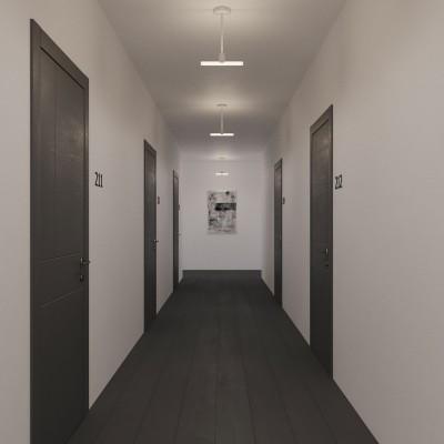 Lampada da soffitto minimal con portalampada Syntax S14d e estensione in metallo nero da 30 cm