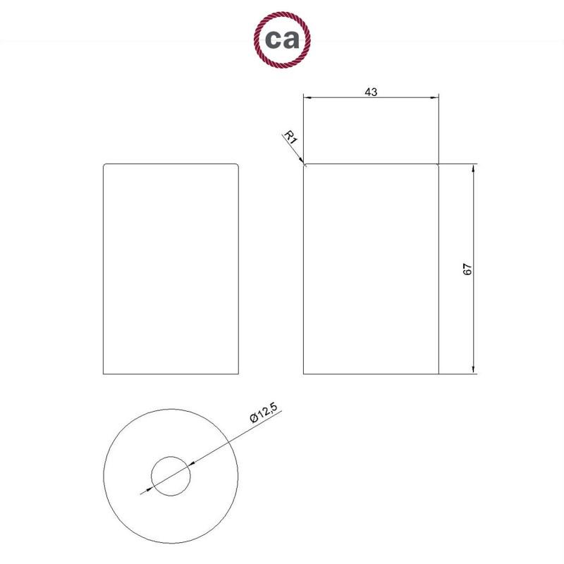 Kit douille E27 Pastel métallique avec serre-câble caché