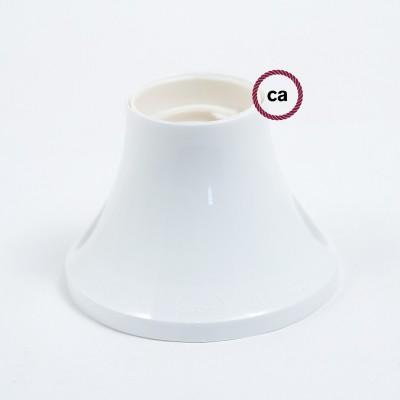 Porte-lampe 90° E27 mural ou de plafond en thermoplastique