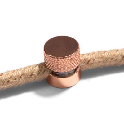 Sarè - Fixation murale, passe-câble en métal pour câble textile