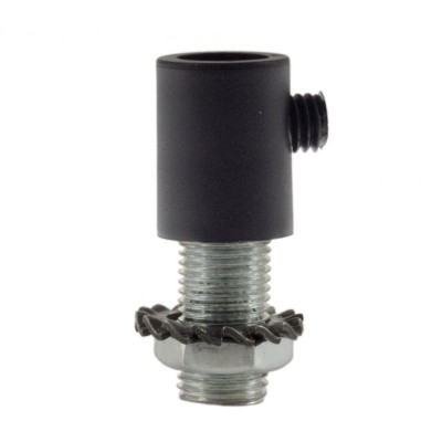 Serre-câble cylindrique en plastique avec tige, écrou et rondelle