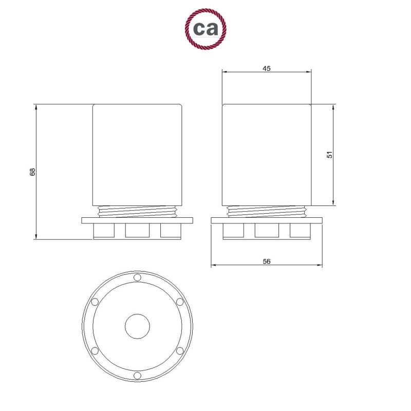 Kit douille E27 semi-filetée en métal avec serre-câble dissimulé
