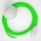 Stehleuchte Anschlussleitung RF06 Grün Fluoreszierend Seideneffekt 3 m. Wählen Sie aus drei Farben bei Schalter und Stecke.