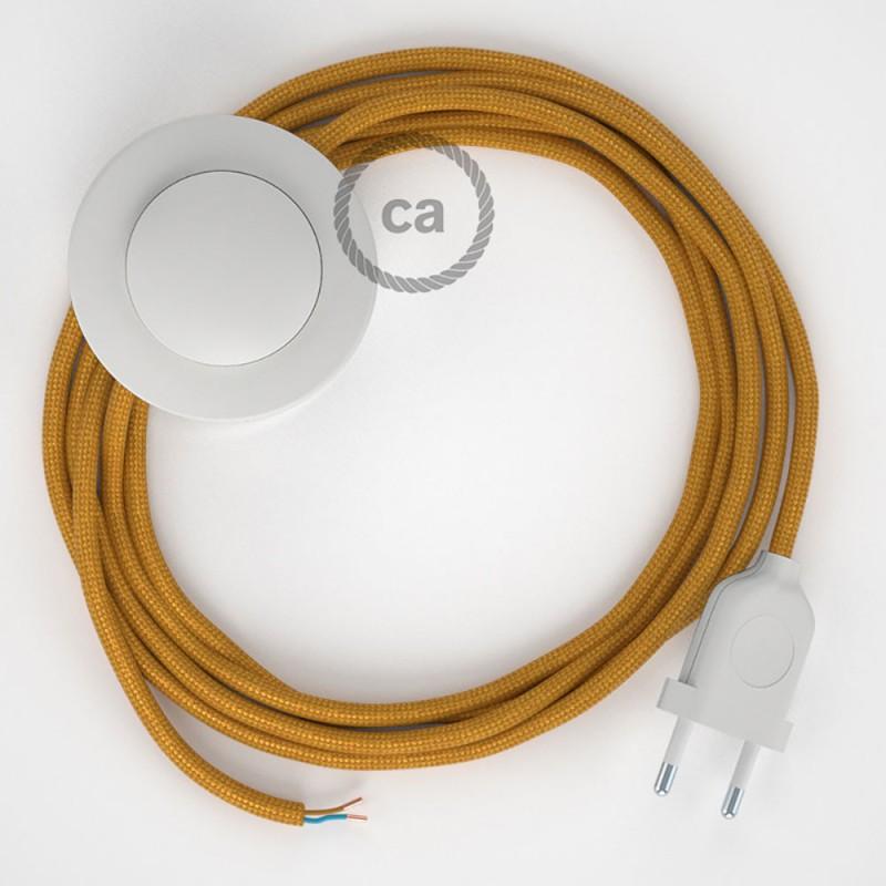 Stehleuchte Anschlussleitung RM05 Gold Seideneffekt 3 m. Wählen Sie aus drei Farben bei Schalter und Stecke.
