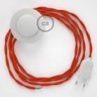 Stehleuchte Anschlussleitung TM15 Orange Seideneffekt 3 m. Wählen Sie aus drei Farben bei Schalter und Stecke.