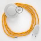 Cordon pour lampadaire, câble TM10 Effet Soie Jaune 3 m. Choisissez la couleur de la fiche et de l'interrupteur!