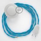 Stehleuchte Anschlussleitung TM11 Türkis Seideneffekt 3 m. Wählen Sie aus drei Farben bei Schalter und Stecke.