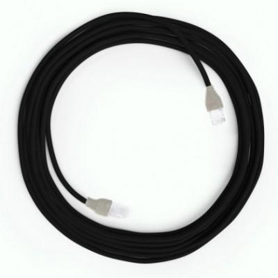 Cavo Lan Ethernet Cat 5e con connettori RJ45 - RM04 Effetto Seta Nero