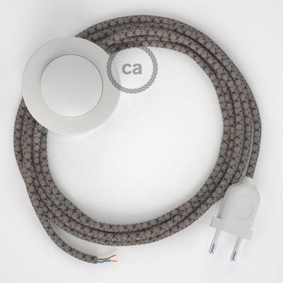 Cordon pour lampadaire, câble RD64 Losange Anthracite 3 m. Choisissez la couleur de la fiche et de l'interrupteur!