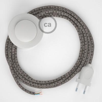 Stehleuchte Anschlussleitung RD64 Raute Anthrazit 3 m. Wählen Sie aus drei Farben bei Schalter und Stecke.