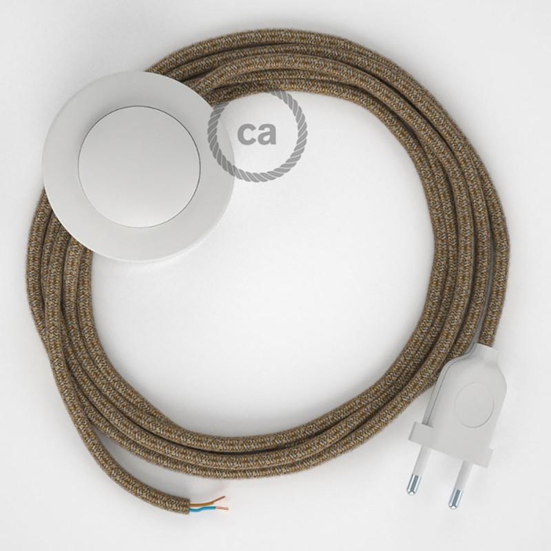 Stehleuchte Anschlussleitung RS82 Braun 3 m. Wählen Sie aus drei Farben bei Schalter und Stecke.