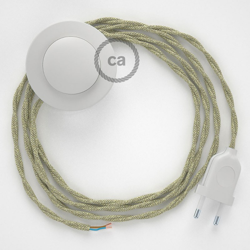 Stehleuchte Anschlussleitung TN01 Neutral Natürliches Leinen 3 m. Wählen Sie aus drei Farben bei Schalter und Stecke.