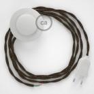 Cordon pour lampadaire, câble TN04 Lin Naturel Marron 3 m. Choisissez la couleur de la fiche et de l'interrupteur!