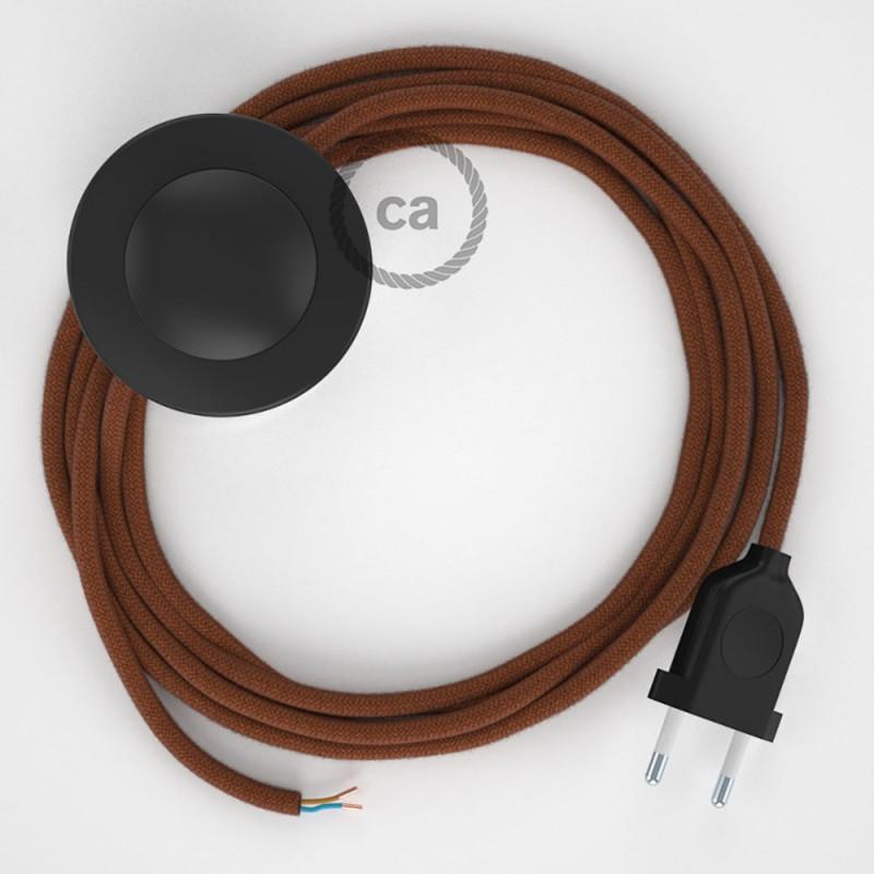 Cordon pour lampadaire, câble RC23 Coton Daim 3 m. Choisissez la couleur de la fiche et de l'interrupteur!