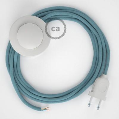 Cordon pour lampadaire, câble RC53 Coton Océan 3 m. Choisissez la couleur de la fiche et de l'interrupteur!