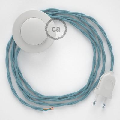 Stehleuchte Anschlussleitung TC53 Ocean Baumwolle 3 m. Wählen Sie aus drei Farben bei Schalter und Stecke.
