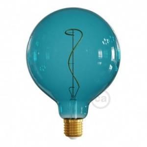 Lampadina LED Globo G125 linea Pastel Ocean Blue filamento Vite 4W E27 Dimmerabile 2200K