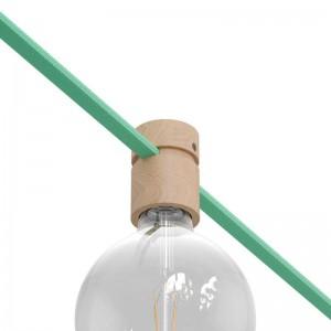 Lampenfassung aus Holz für Lichterketten und Filé-System. Made in Italy