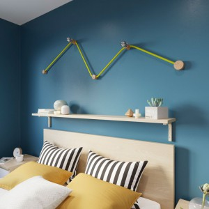 Kit Wiggle Filé system - avec câbles pour guirlande lumineuse de 3 mètres et 5 composants en bois pour intérieur