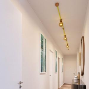 Linear-Kit des Filé-Systems - mit 5 m Kabel und 7 Zubehörteilen aus Holz für den Innenbereich
