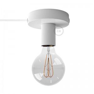 Spostaluce, die Metall-Lichtquelle mit Textilkabel und seitlichen Löchern