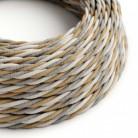 Elektrisches Kabel geflochten überzogen mit Jute, Baumwolle und natürliche Leinen Country TN07