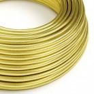 Elektrisches Kabel rund 100% überzogen mit Kupfer in goldfarben