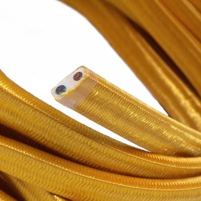 Cavo elettrico per Catenaria rivestito in tessuto Effetto Seta Oro CM05