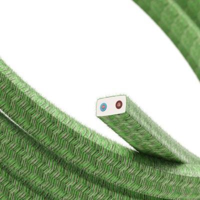 Cavo elettrico per Catenaria rivestito in Cotone Pixel Bronte CX08