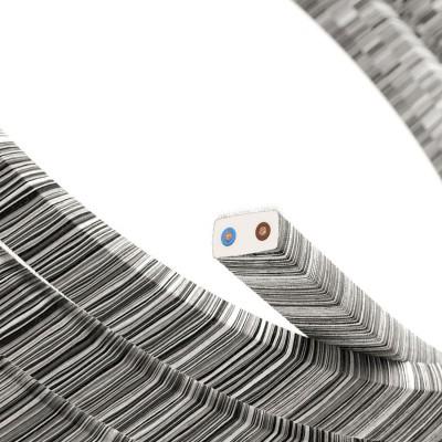 Cavo elettrico per Catenaria Vertigo rivestito in Cotone Nero Mélange ECC37