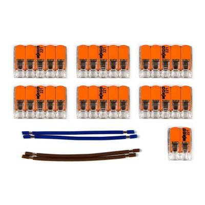 Kit di collegamento WAGO compatibile con cavo 2x per Rosone a 10 fori