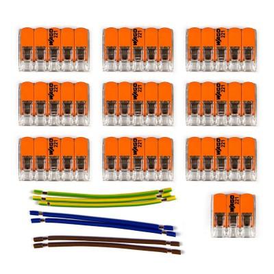 Kit di collegamento WAGO compatibile con cavo 3x per Rosone a 9 fori
