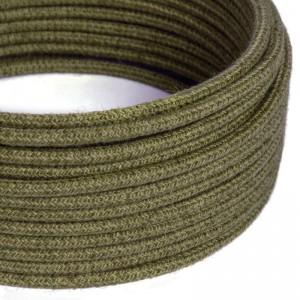 Câble Electrique rond recouvert de Jute Couleur Unie Marron Écorce RN26