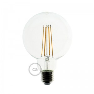 Ampoule Transparente LED - Globe G95 Filament Long 7.5W E27 Vintage Décorative Dimmable 2200K
