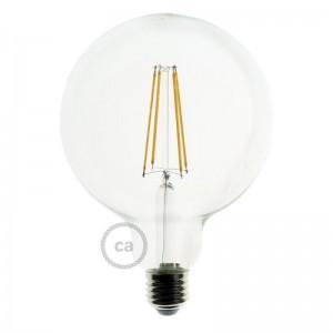 Ampoule Transparente LED - Globe G125 Filament Long 7.5W E27 Vintage Décorative Dimmable 2200K