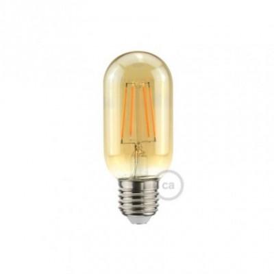 LED Glühbirne gold ovalförmig T45 5W E27 dimmbar 2000K