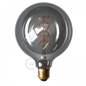 Ampoule Smoky LED Globe G125 Filament Courbe en Spirale 5W E27 Dimmable 2000K