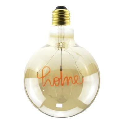 """Ampoule Dorée Globe LED pour suspension - G125 Filament simple """"Home"""" - 5W E27 Décorative Vintage 2000K"""