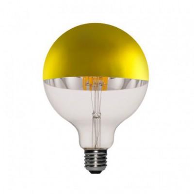 Lampadina LED Globo G125 Mezza Sfera Oro 7W E27 Dimmerabile 2700K