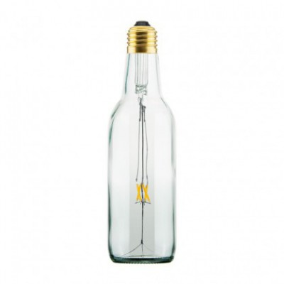 LED-Glühbirne Bierflasche transparent 3.5W E27 dimmbar 3600K