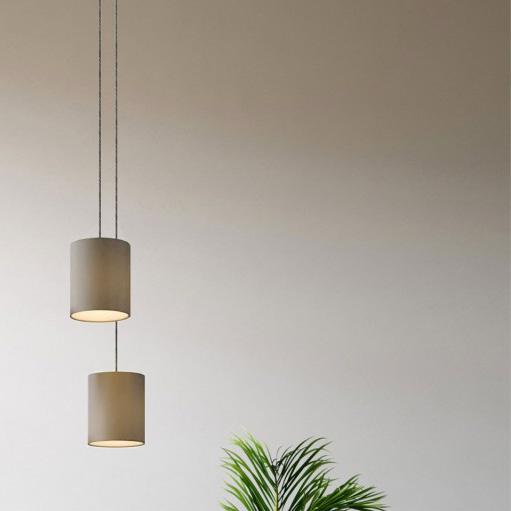 lampade a sospensione doppia con paralume